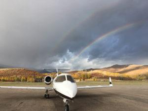Leer Jet and Double Rainbow Pic